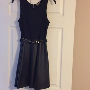 Princess Vera Wang faux leather black dress